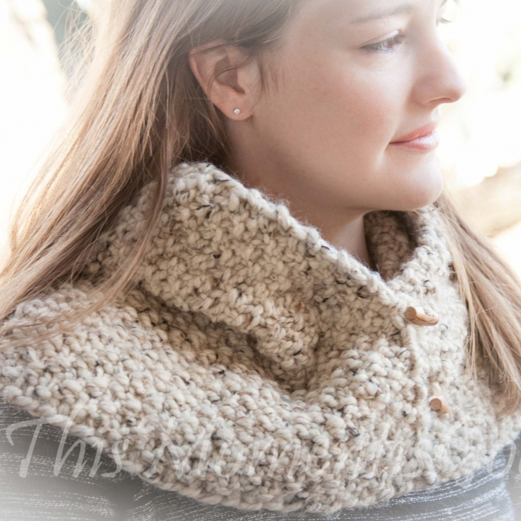 Loom Knit Cowl Pattern, The Country Cowl
