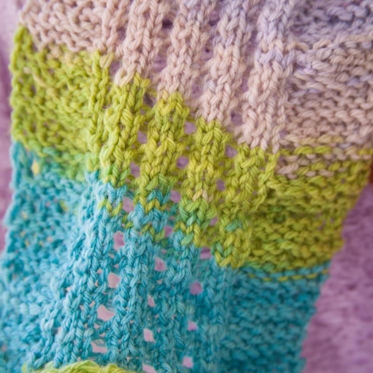 Loom Knit Eyelet & Ripple Scarf Pattern