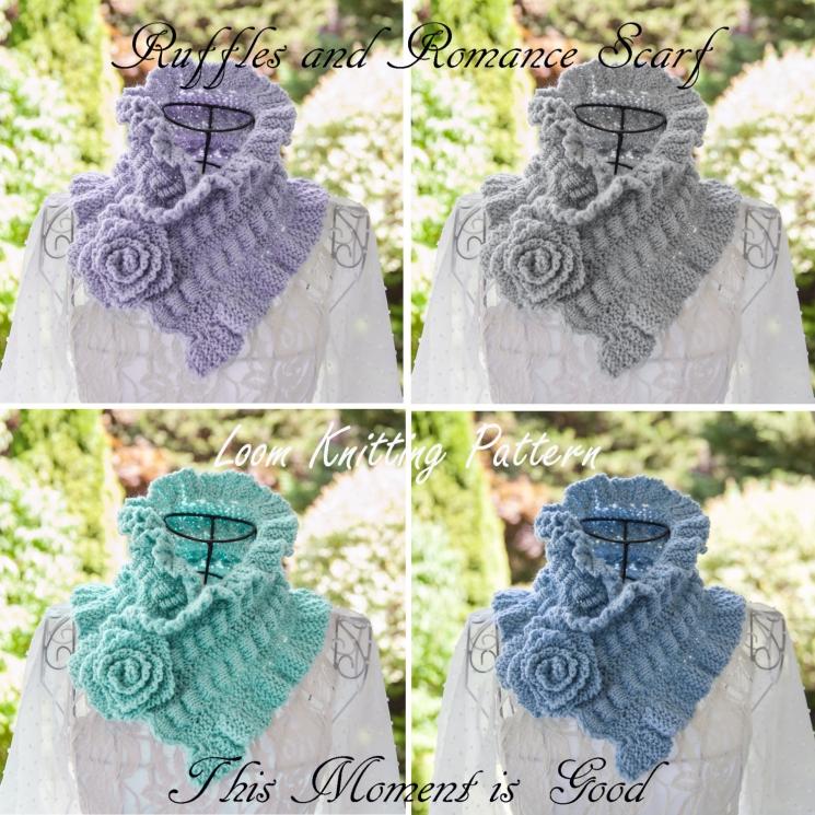 Loom Knit Victorian Cowl, Neckwarmer Pattern