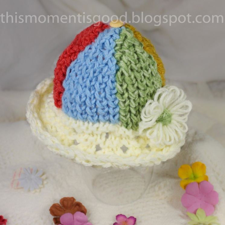 LOOM KNIT SUN HAT PATTERN FOR BABY