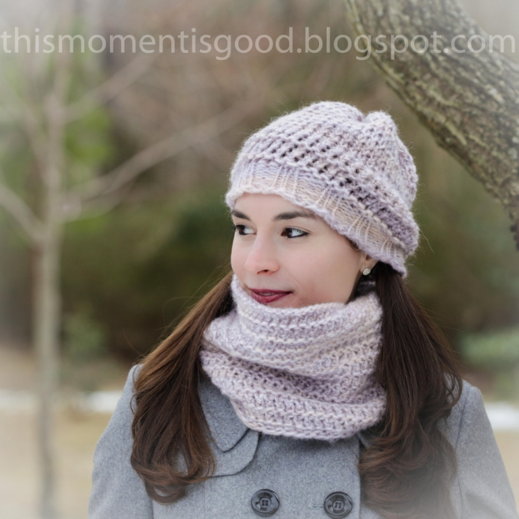 Loom Knit Hat and Cowl Set Pattern