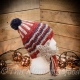 Loom Knit Patriotic, seaside, Moon/stars theme hat Pattern