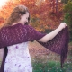 Loom knit lace shawl, wrap, scarf PATTERN