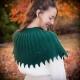 Loom knit cape pattern, capelet, shawl, poncho, wrap, victorian, PATTERN. Femini
