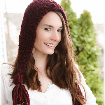 OOM KNIT LADIES/TEEN HOOD PATTERN