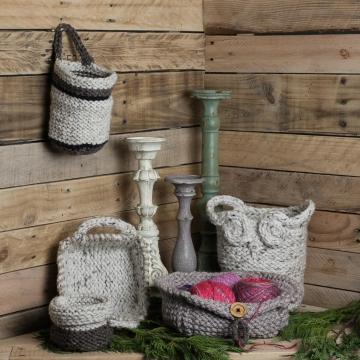 Loom Knit Basket PATTERNS, Owl Basket, Bread Basket, Yarn Basket, Door Knob Bask