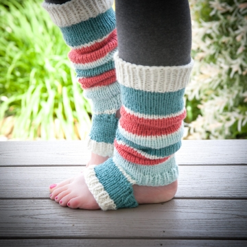 Loom Knit Legwarmer Pattern, Dancer, Yoga, Stirrup Style Legwarmer Pattern. Inst
