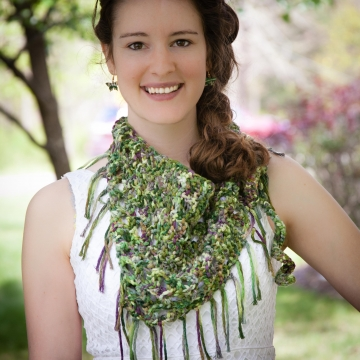 Loom knit sarong pattern, loom knit bandanna scarf pattern, loom knit beach cove