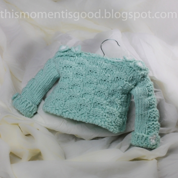 Loom Knit Baby Sweater Pattern: Checkerboard Pattern on Sleeves and body of sweater. PATTERN ONLY! 12 Month Size.