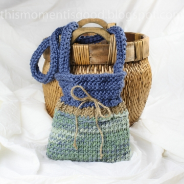 Loom Knit Handbag Pattern:  PATTERN ONLY! Quick and Easy Pattern produces a Super Cute Weekend bag, perfect for casual occasions!
