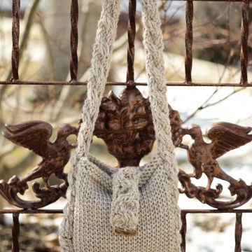 Loom Knit Cable Purse