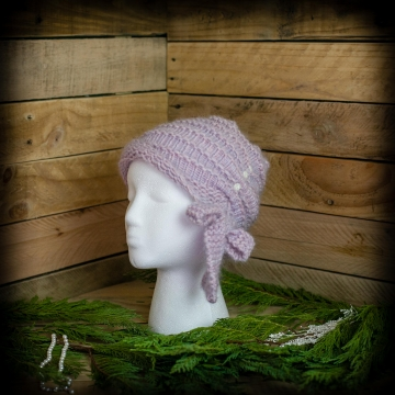 Loom Knit Cloche Hat PATTERN, Side Tie Bow, Vintage, Feminine, Dressy, Hat PDF PATTERN